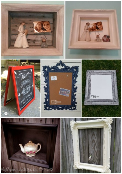 ideas for using old picture frames