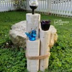 Easy Reclaimed Landscape Timber Solar Light