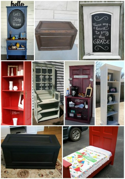 new furniture made from old doors