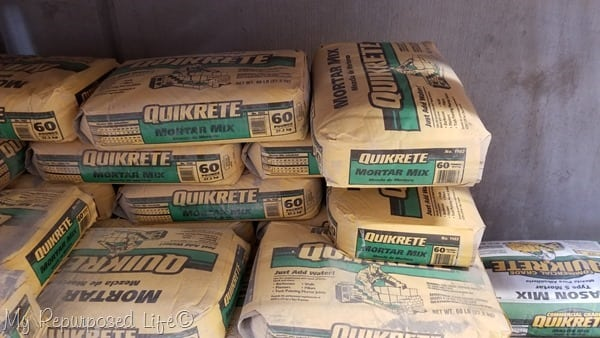 quikrete mortar mix at Home Depot