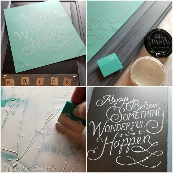 chalk couture always believe something wonderful is about to happen