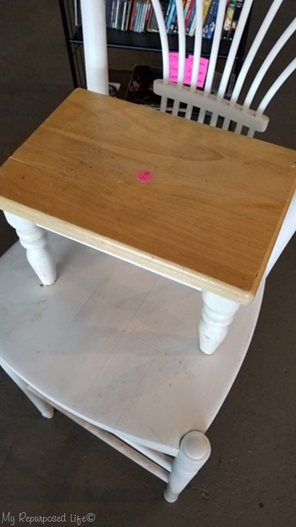 small wooden stool
