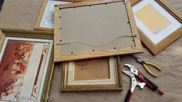 tools to turn picture frames into chalkboards