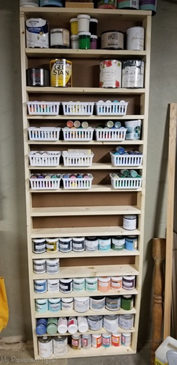 craft paint and more shelf unit