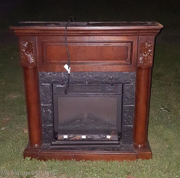 Faux Fireplace Mantel Makeover My Repurposed Life