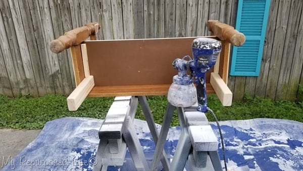 paint underside of child bench first