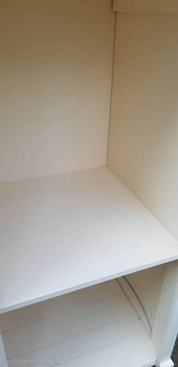 plank look plywood shelves