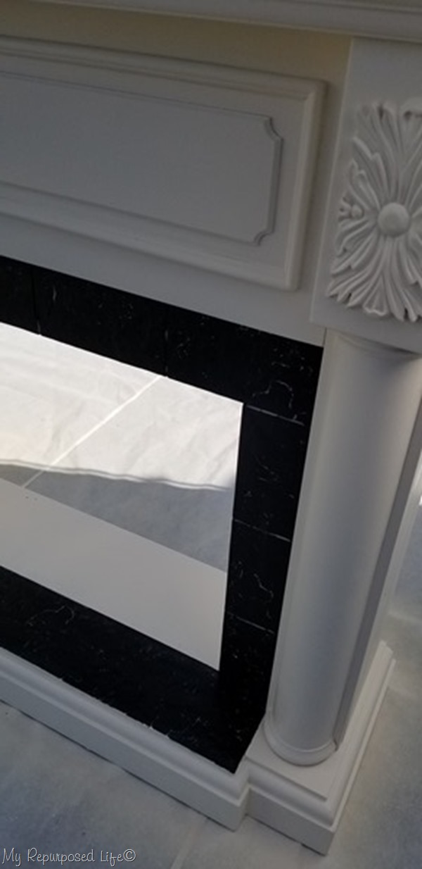 remove painters tape from faux fireplace mantel