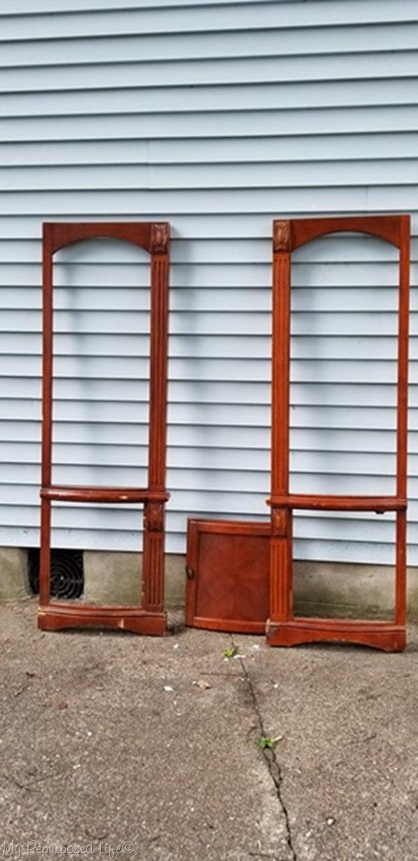 repurposed armoire doors