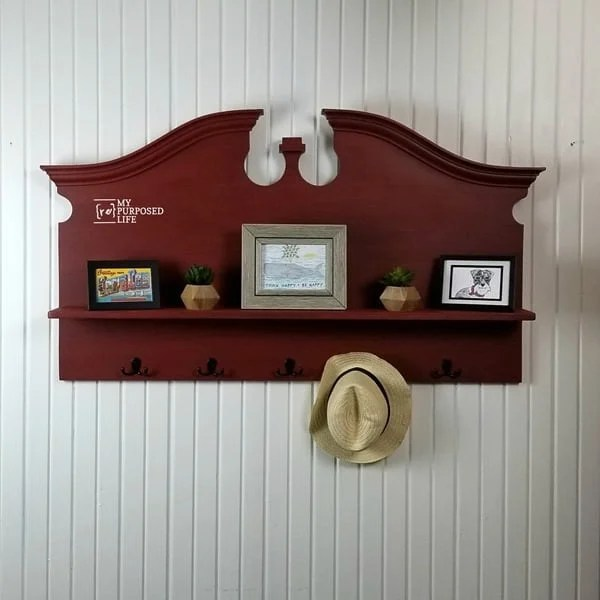 large red headboard coat rack shelf MyRepurposedLife