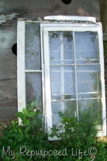vintage windows repurposed