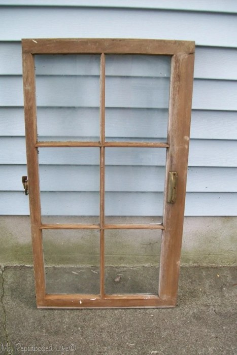 make a window cabinet