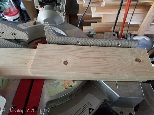 cut sides pieces of headboard bench