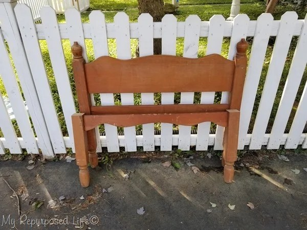 twin bed bench project
