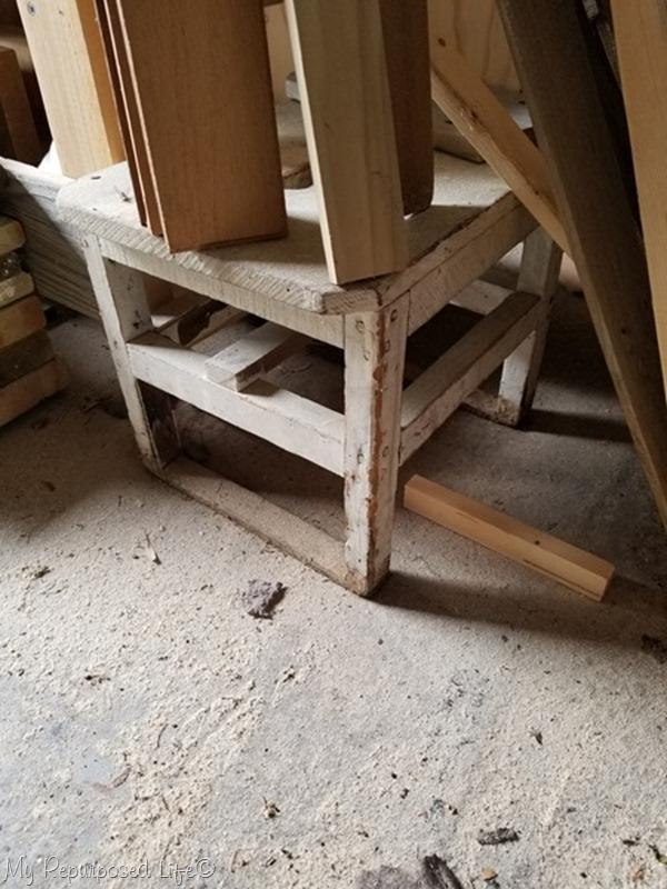 antique stepstool