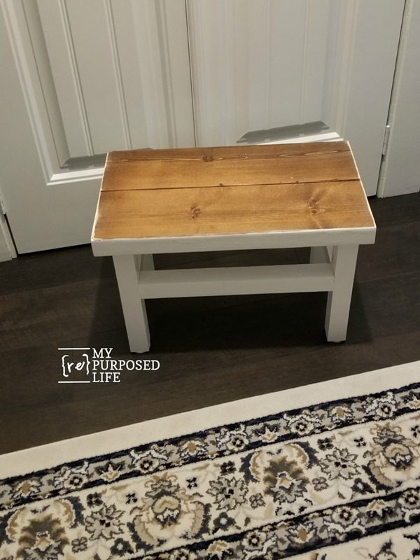 short oversized stepstool for master closet MyRepurposedLife