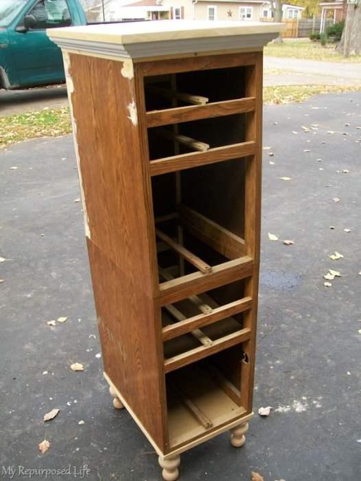 stack desk drawers to make lingerie chest
