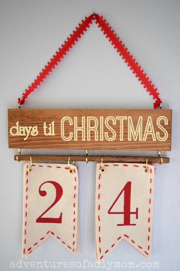 Christmas Countdown - Days til Christmas Wall Hanging