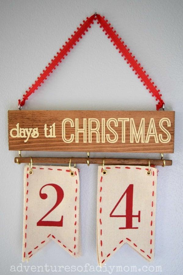 Christmas Countdown - Days til Christmas Wall Hanging