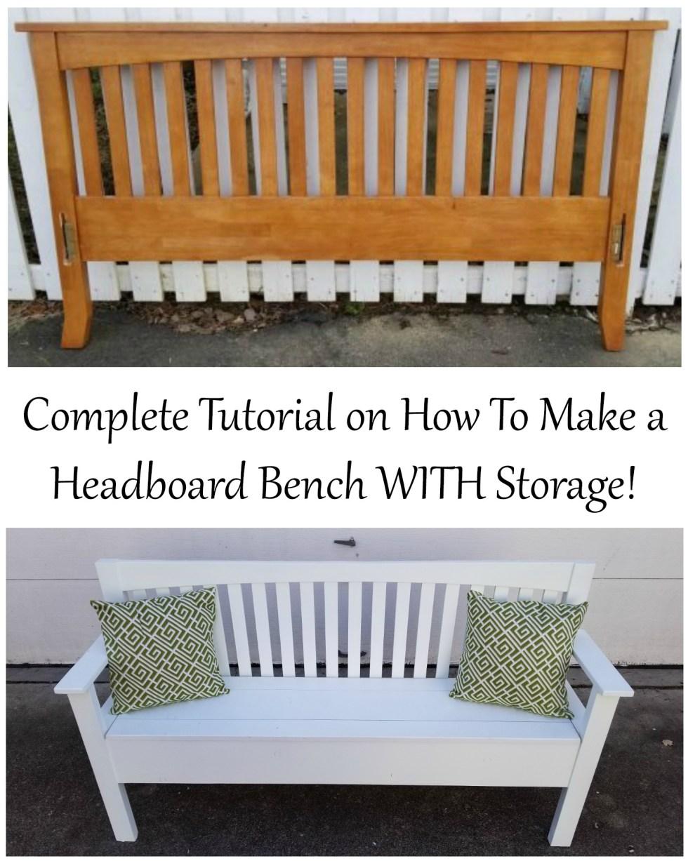 Headboard Bench Tutorial