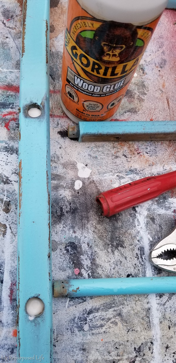 add wood glue to dowel joints