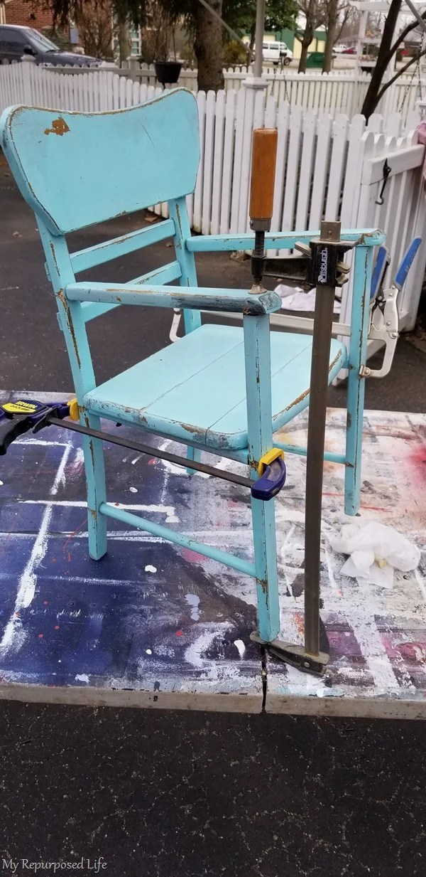 chair clamped