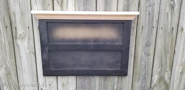 chalkboard key rack in progress