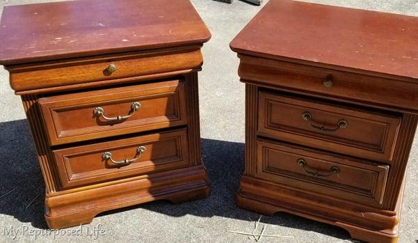 old nightstands before
