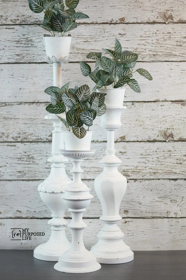 repurposed lamp plant stands MyRepurposedLife