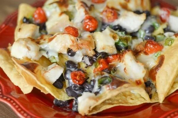 air fryer plate nachos