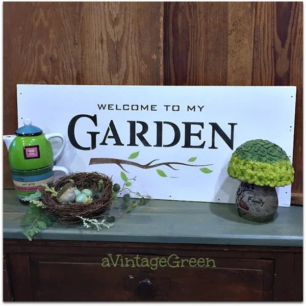 diy sign welcome to my garden