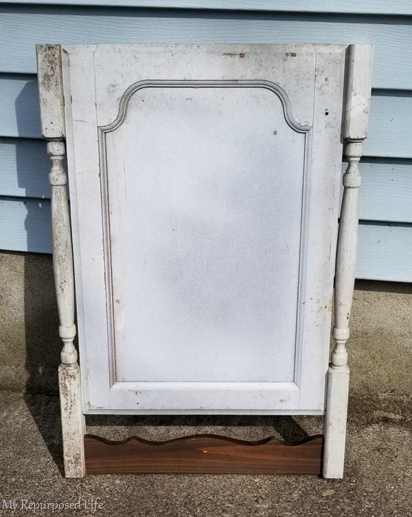 part one faux dresser harp chalkboard