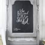 Faux Dresser Harp Chalkboard