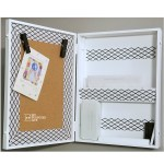Mail Organizer with Chalkboard and Cork Board
