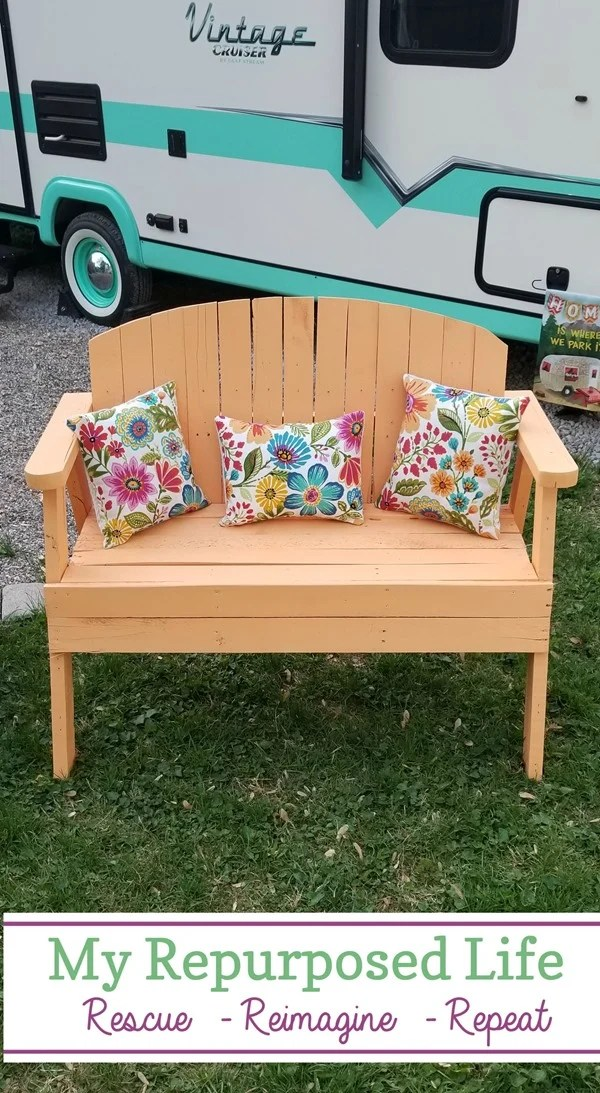 Magnificent Pallet Love Seat Bench My Repurposed Life Rescue Re Pdpeps Interior Chair Design Pdpepsorg