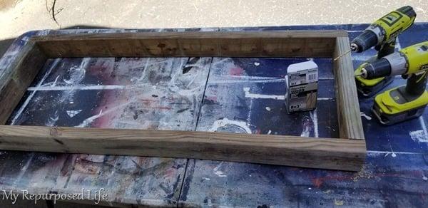 pallet loveseat bench box seat