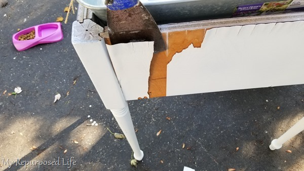 peeling veneer