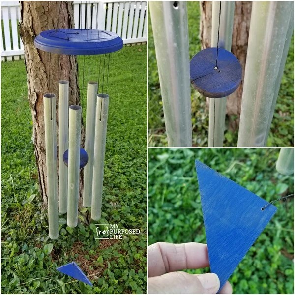 pieces of a refurbished wind chime MyRepurposedLife
