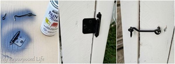 spray paint gate hardware