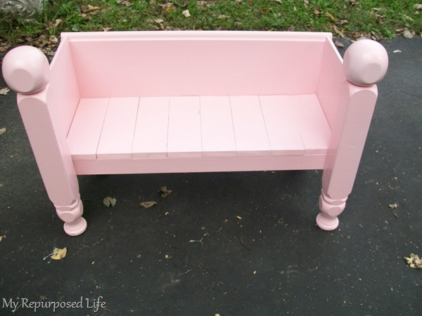 footboard made into child bench