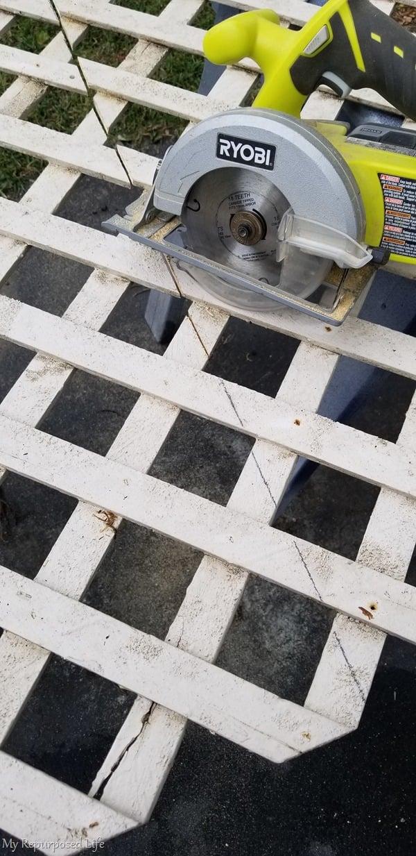 lattice and circular saw