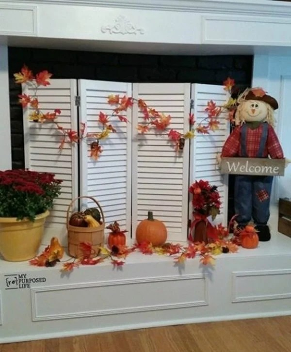 Fall Fireplace Screen