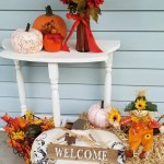 Upcycled Side Table Fall Porch Decor