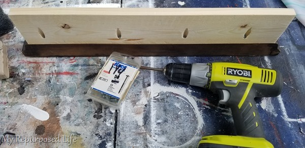 secure kreg pocket hole screws on jewelry shelf