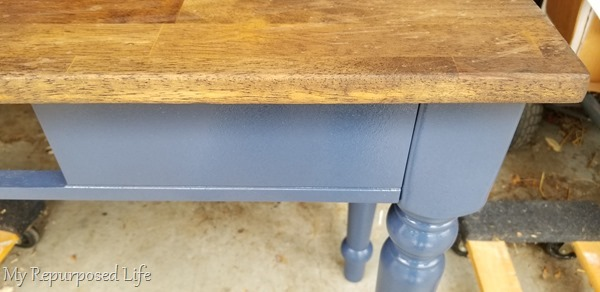 dark walnut stained table