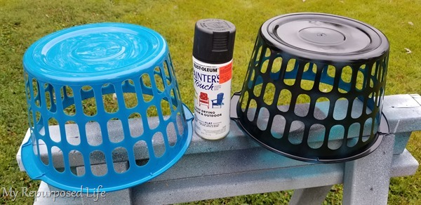 spray paint baskets
