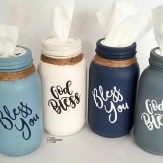 easy mason jar tissue holders
