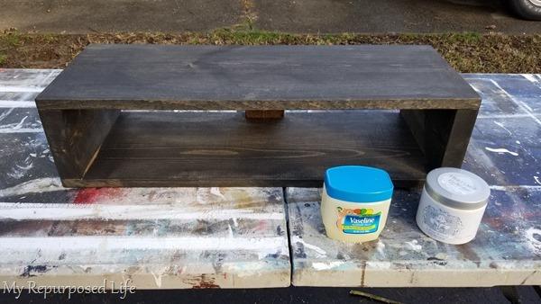 use vaseline as paint resist