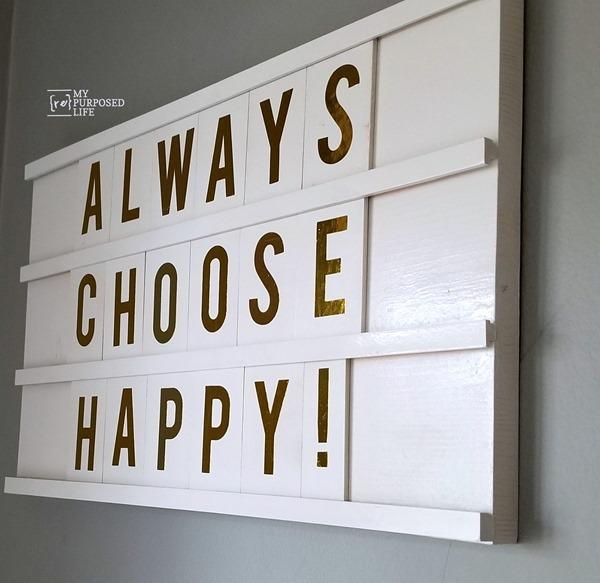always choose happy DIY wooden letter board MyRepurposedLife