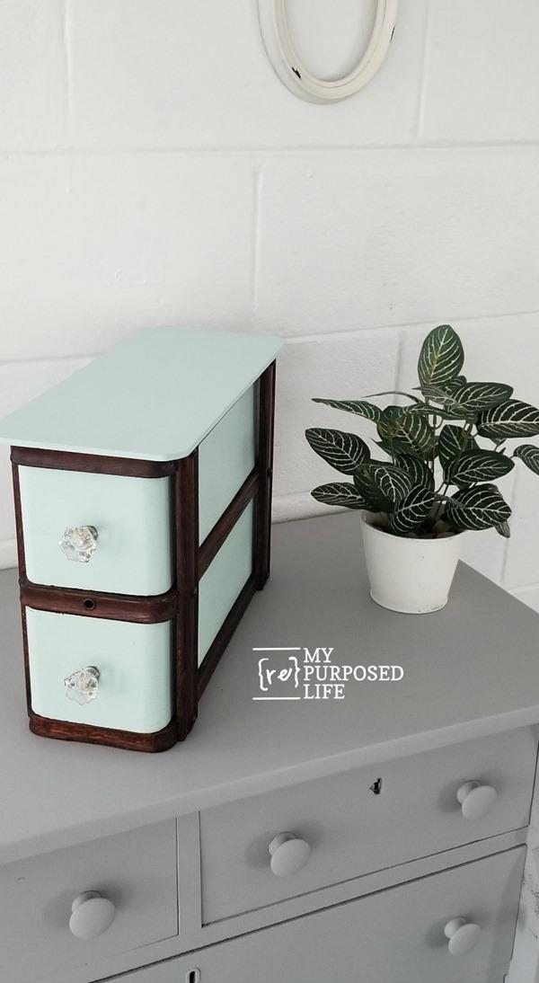antique sewing drawer set MyRepurposedLife